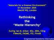 Materials For Greener Environment