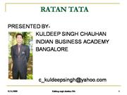 RATAN TATA - BUSINESS LEGEND