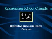Reassesing the School Climate