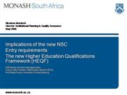 Implications of  the new NSC