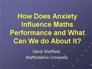 Anxiety Influencing Maths