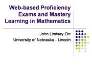 Exams and Mastery Learning in Mathematics