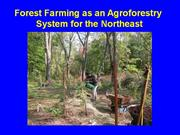Agroforestry Overview