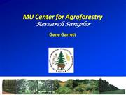 Agroforestry Research