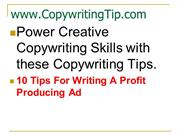 Power Creative copywriting with 10 tips for Ads