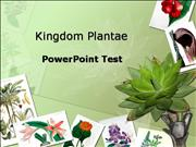Kingdom Plantae Test