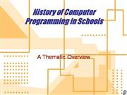History of Educational Programming