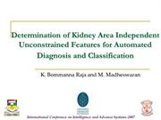 Ultrasound Kidney Image Analysis