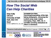 How The Social Web Can Help Charities