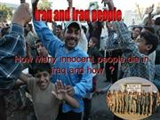 Z.P  How many innocent people have died in Iraq?