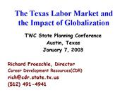 Globalization for TWC Planning Conference 2003