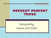 Present Perfect Tense