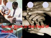 Social work in the field of health