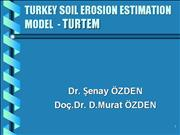 TURTEM - Turkey Soil Erosion Estimation Model