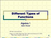 Different types of functions