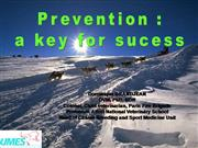 Prevention is a key for success in racing sled dog