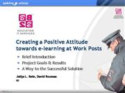 E-learning at Work Post