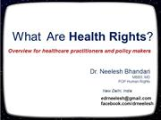 What are health rights (with emphasis on health information rights)