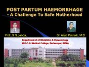 PostPartum Haemorrhage (Indian Doc)