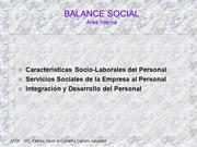 Balance Social
