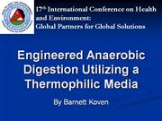 Engineered Anaerobic Digestion Utilizing a Thermop