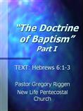 The Doctrine of Baptism (Part 1)