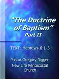 The Doctrine of Baptism (Part 2)