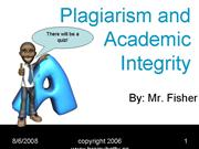 Plagiarism and Academic Integrity