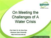 Challenges in Water Crisis