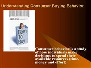 Understanding Consumer Buying Behavior