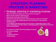strategic planning in marketing