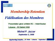 Rotary Membership Retention