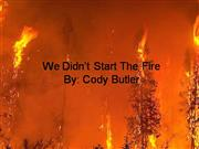 Cody's We Didn't Start the Fire Project