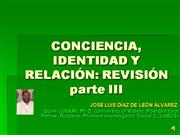 Conciencia, identidad y relacin parte III