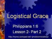 Philippians 1:6 2 Logistical Grace Part 2