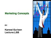Marketing Concepts