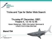 Tricks and Tips for Better Web Search [Archive]
