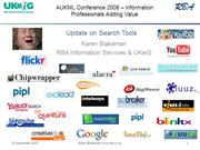 AUKML - Update on Search Tools [archive]