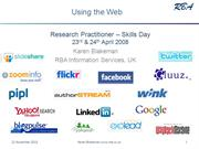 The Research Practitioner - Using the Web [Archive]