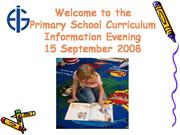 Primary Curriculum Evening