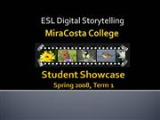 MCC ESL Digital Storytelling Showcase