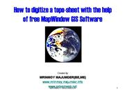 How to digitize a toposheet with free mapwindow GI