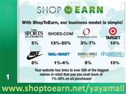 shop to earn