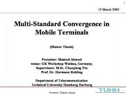 Multi-Standard Convergence in Mobile Terminals