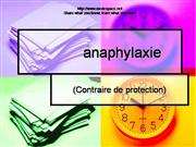 Anaphylaxie
