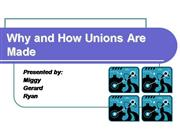 Labor Relations UNIONS