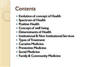 Social Work in the field of Health- Some Concepts