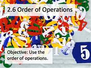 2.6 Order of Operations - Text Only
