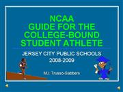 NCAA:  Eligibility Clearinghouse