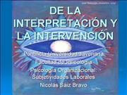 Interpretación e Intervencion en la organizacion